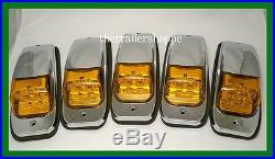 Kenworth Peterbilt Roof Cab Marker Light LED Set of 5