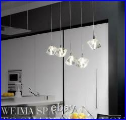 LED Clear Crystal Ceiling Light Dining Room Pendant Lamp Kitchen Bar Lighting