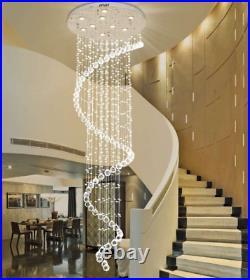 LED Crystal Chandelier Rain Drop Ceiling Lamp Lighting Pendant Light Fixtures