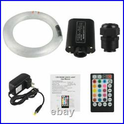 LED Fiber Optic Light Star Ceiling Kit With Music Decor DIY Car RGBW 12v 300PC 2M