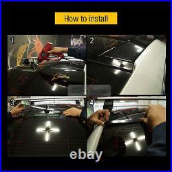 LED Rear Roof Brake Light Lamp Glass Wing Lip Spoiler for AUDI 2009-2015 A4 B8