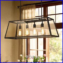 Large Chandelier Lighting Glass Pendant Light Black Ceiling Lights Kitchen Lamp