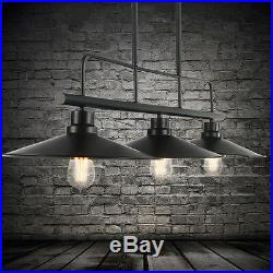 Large Chandelier Lighting Kitchen Black Pendant light Bar Lamp LED Ceiling Light