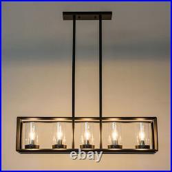 Large Chandelier Lighting Kitchen Lamp Glass Pendant Light Bar Ceiling Lights