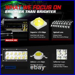MICTUNING M2 Quad-Row 21 LED Light Bar OffRoad Driving Lamp for Jk UTV Wrangler