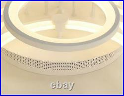 Modern Circle Ring Ceiling Lamp Acrylic Stepless Dimming LED Chandelier Fixtures