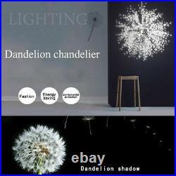 Modern Dandelion Chandelier LED Firework Pendant Ceiling Light Lamp Decor