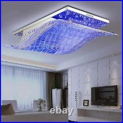 Modern K9 Crystal Ceiling Light Remote Control LED Dimmable Chandelier Lighting