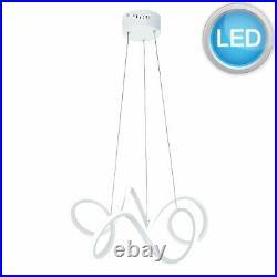 Modern LED Swirl Light Fitting Chandelier Pendant Ceiling Lights Lighting