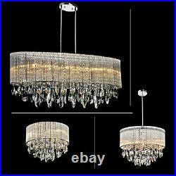 Modern Luxury Chandelier G9 LED Crystal Droplet Ceiling Light Elegant Fixtures