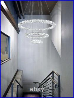 Modern Round LED 3 Ring Pendant Ceiling Light Home Diner Hotel Chandelier M0172
