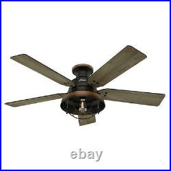 NEW 52 LED Edison Bulb Cheyenne Bronze 1 Light Indoor/Outdoor Porch Ceiling Fan