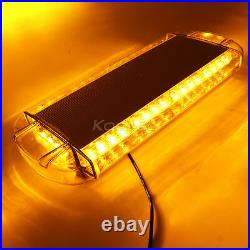 NEW LED Roof 40 LED SOLID Amber Emergency Plow Tow Truck 22 Strobe Light Bar
