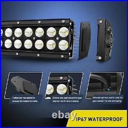 NILIGHT 54 50 42 32 Curved LED Light Bar Combo Fog Lights for SUV Boat Car Lamp