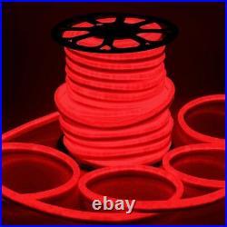 Neon LED Light waterproof Flexible Tape 150FT indoor outdoor lighting rope Red