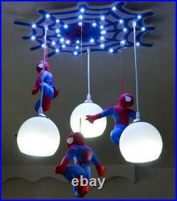 New Modern Creative Spiderman Pendant Lamp Children's Room LED Ceiling Lighting