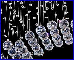 New Modern Wave Crystal Pendant Light Ceiling Lamp Lighting Rain Drop Chandelier