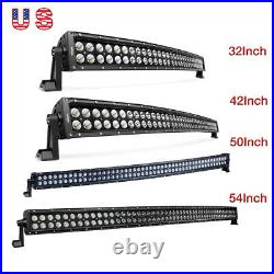 Nilight Curved LED Light Bar 32 42 50 54 Spot Flood Combo for Jeep Truck 4WD