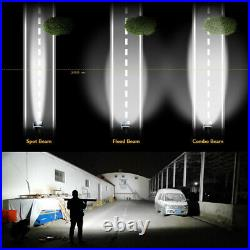 Offroad 52inch LED Work Light Bar Curved Flood Spot Combo Truck Roof Driving ATV