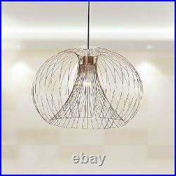 Pair (Set of 2) Modern Copper Wire Ceiling Pendant Chandelier Light Shade