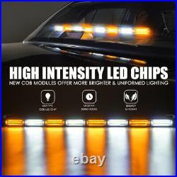 Police Car 35 White Amber Emergency Patrol Traffic Advisor LED Strobe Light Bar