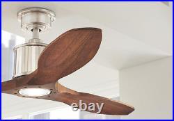 Quiet Wood Blades 52 Sleek LED CEILING FAN + REMOTE, Fancy Modern Elegant Light