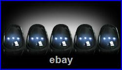 RECON 264146WHBK 2003-2016 Dodge Ram Smoked Lens Cab Roof White LED Lights