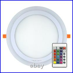 RGB 16 Colour Changing Ring LED Ceiling Panel Down Light Bedroom Mood Light
