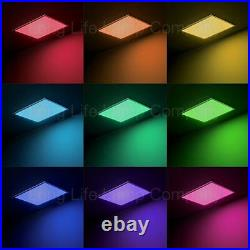 RGB Colour Changing LED Ceiling Hanging Surface Mount Panel Light 600 x 600 40W