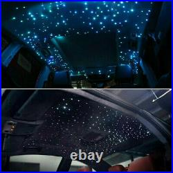 RGB LED 300pcs Fiber Optic Car Roof Ceiling Headliner Star Light Kit APP +Remote