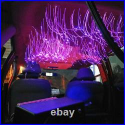 RGB LED Car Roof Headliner Star Light Kit Fiber Optic Lamp Remote Bluetooth APP
