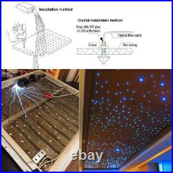 RGB LED Fiber Optic Star Ceiling Fixture Light Muti Color For Car Home Roof Lamp