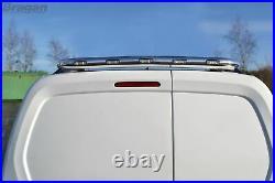 Rear Roof Beacon Light Bar + LEDs For Mercedes Sprinter 2018+ Chrome Steel Bar
