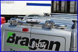 Rear Roof Beacon Light Bar + LEDs For Vauxhall Opel Vivaro 2002 2014 Spot Bar