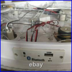 Remote CTRL + Bluetooth 3 Colours Genuine Crystal Flush Ceiling Light Chandelier