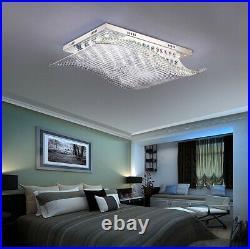 Remote LED 4-Color Chandelier K9 Crystal Ceiling Light Pendant Lighting Fixtures