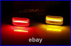 Smoked Lens Amber/Red Full LED Cab Roof Clearance Lights For 03-09 Hummer H2 SUT