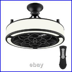 Stile Anderson 22 in. LED Indoor/Outdoor Black Ceiling Fan with Remote Control