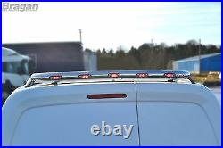 To Fit 00-06 Ford Transit MK6 Stainless Steel Chrome Rear Roof Light Bar + LEDs