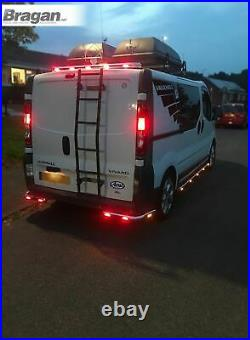 To Fit 02 14 Vauxhall Opel Vivaro Stainless Steel Rear Roof Light Bar + LEDS