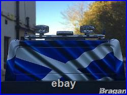To Fit 07 14 Ford Transit MK7 Stainless Steel Van Rear Roof Light Bar + LEDs