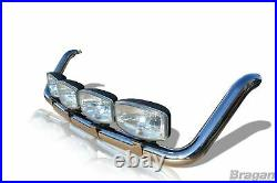 To Fit 2014+ Ford Transit MK8 Steel Medium High Roof Light Bar + Clamps + LEDs