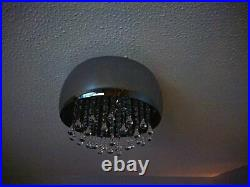 Waterfall 5 Light Flush Ceiling Decorative Ceiling Light smoked glass