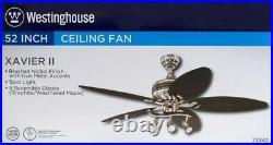 Westinghouse 7234265 Xavier II 52 Reversible Five-Blade Indoor Ceiling Fan