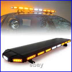 Xprite 48 Black Hawk Amber LED Security Warning Roof Top Strobe Light Bar
