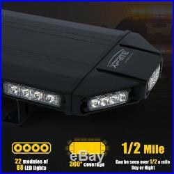 Xprite Amber 48inch Rooftop LED Strobe Light Bar 12V Flashing Emergency Warning