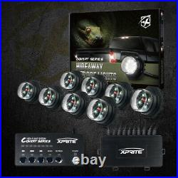 Xprite White 8 Pieces Hide-A-Way LED Strobe Lights Hazard Marker for Truck Jeep
