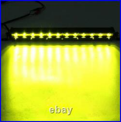 Yellow Slim 50inch 144W Led Light Bar Single Row Driving Truck Boat Offroad 52